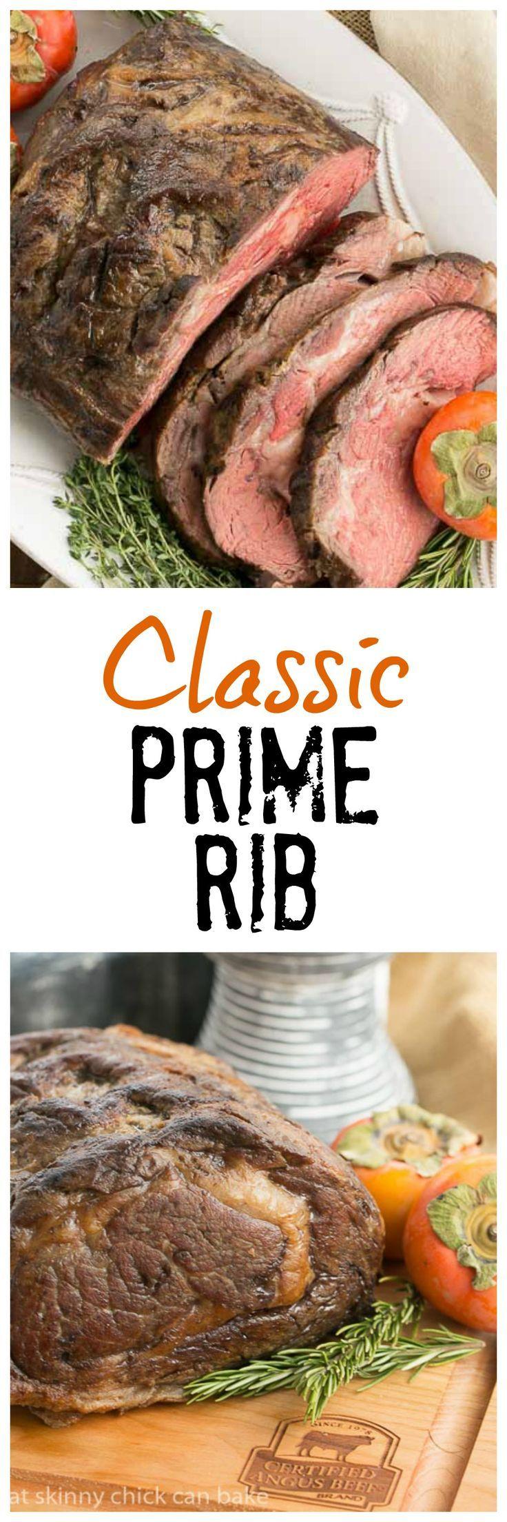 Classic Prime Rib | Perfect roasting technique for rare prime rib @lizzydo