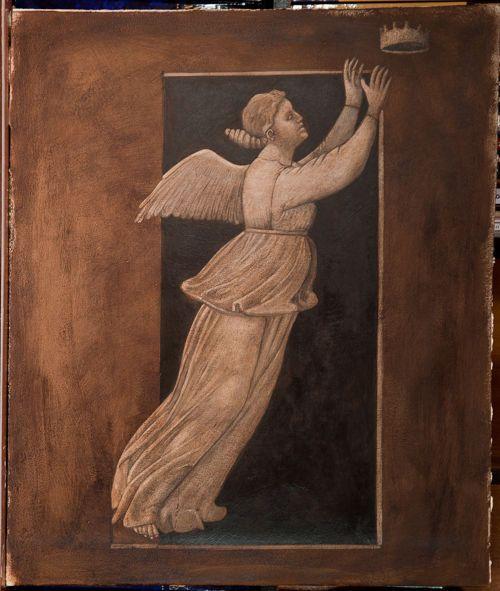anioł kopia fresku