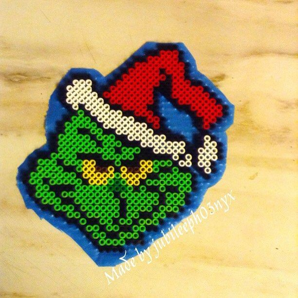 The Grinch perler beads by  jubileeph03nyx