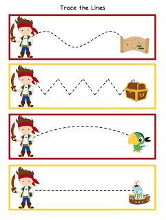 Preschool Printables: Pirate Also alphabetical list of tons of other preschool themed printables.