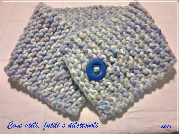 Maxi scaldacollo con maxi lana! Ferri n. 15 per 13 maglie