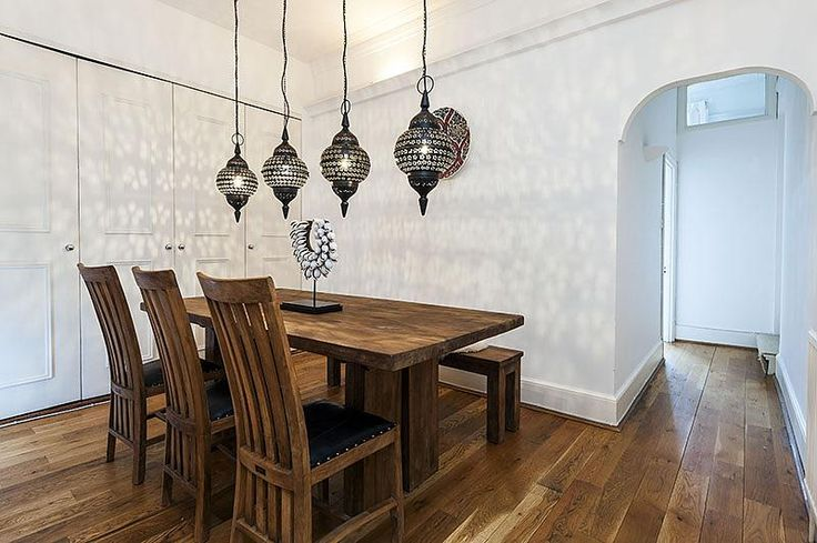 Asian oriental themed dining room with giant reclaimed for Asian themed dining room ideas