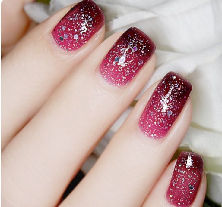 Thermal Color-Changing Nail Polish With Glitter # 23808