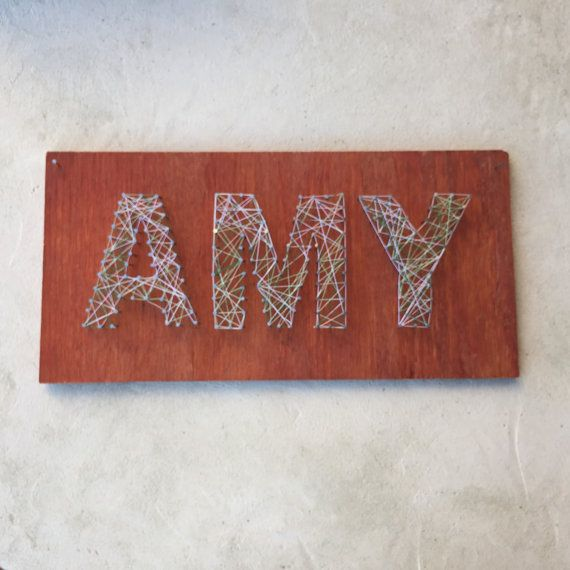 Personalized nail and string art