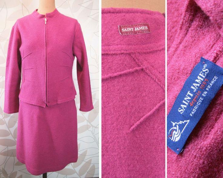 saint james e irrprochable ensemble tailleur rose fushia veste jupe t 40 ebay