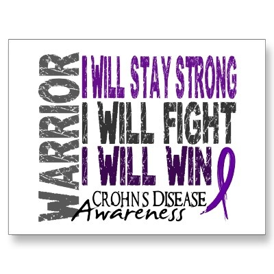 Crohn's Disease is just a page in my story book, not my life story!! I'm am strong and I will survive!!