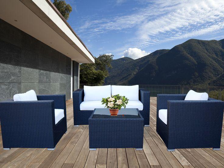 Black Osiana 5 Piece Outdoor Furniture