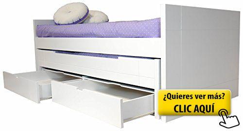 Cama infantil / juvenil dos camas con cajones en... #cama