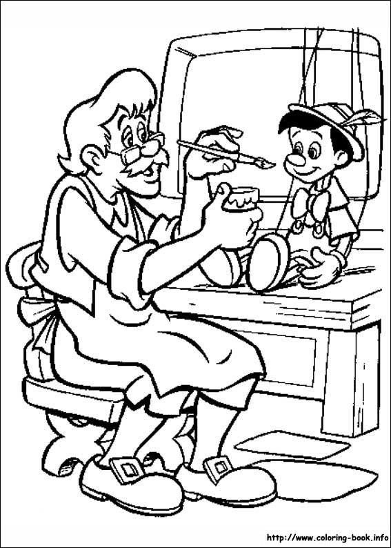 Pinocchio coloring picture