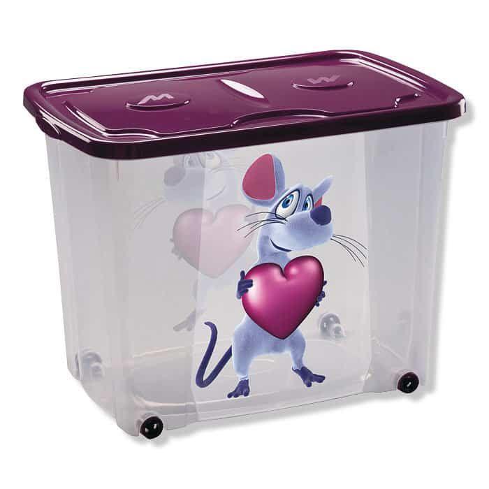 Fresh Rollbox MAUS lila mit Deckel Liter