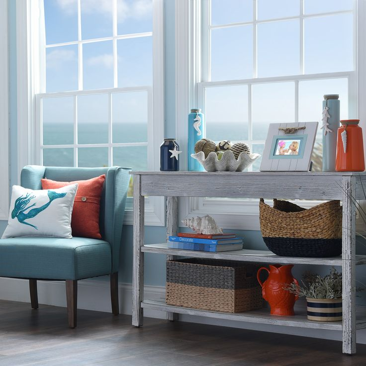 Enjoy a relaxing getaway without having to go anywhere with the refreshed Coastal Cottage Collection. Shades of blue paired with distressed wood can quickly change the atmosphere in any room. From statues to chairs, find what you need to transform your home!