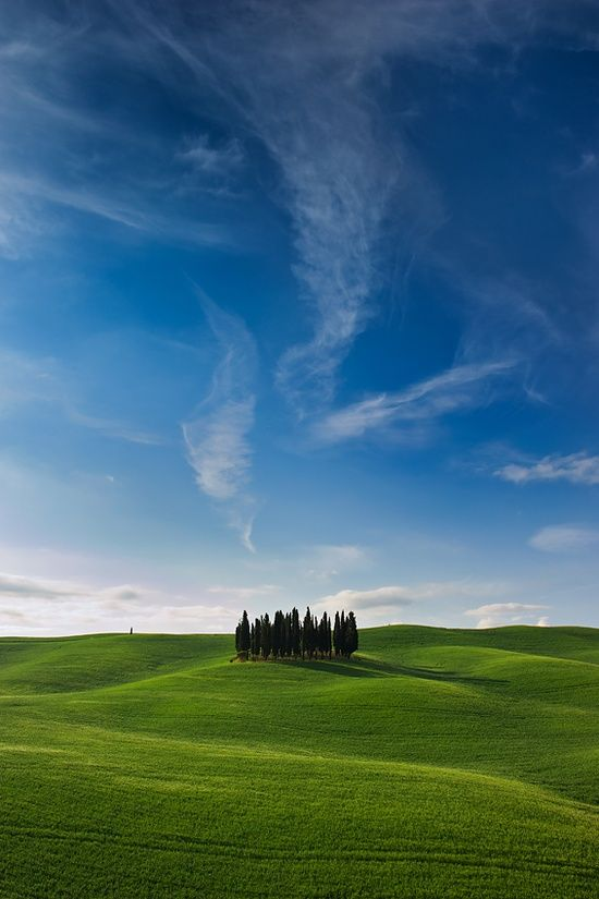 Val d'Orcia, province of Siena Tuscany, Italy