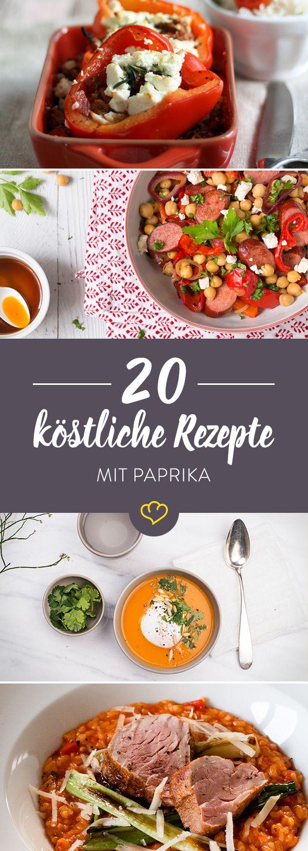 Die schönsten Paprika im Land präsentieren sich als cremiges Süppchen, knackiger Salat oder gefüllt vom Ofenrost. Wer wird dein Favorit?