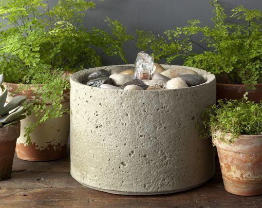 Pebble Cast Stone Fountain