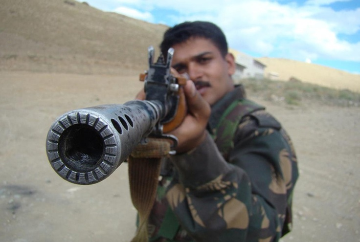 Standard issue INSAS rifle of the Indian Army