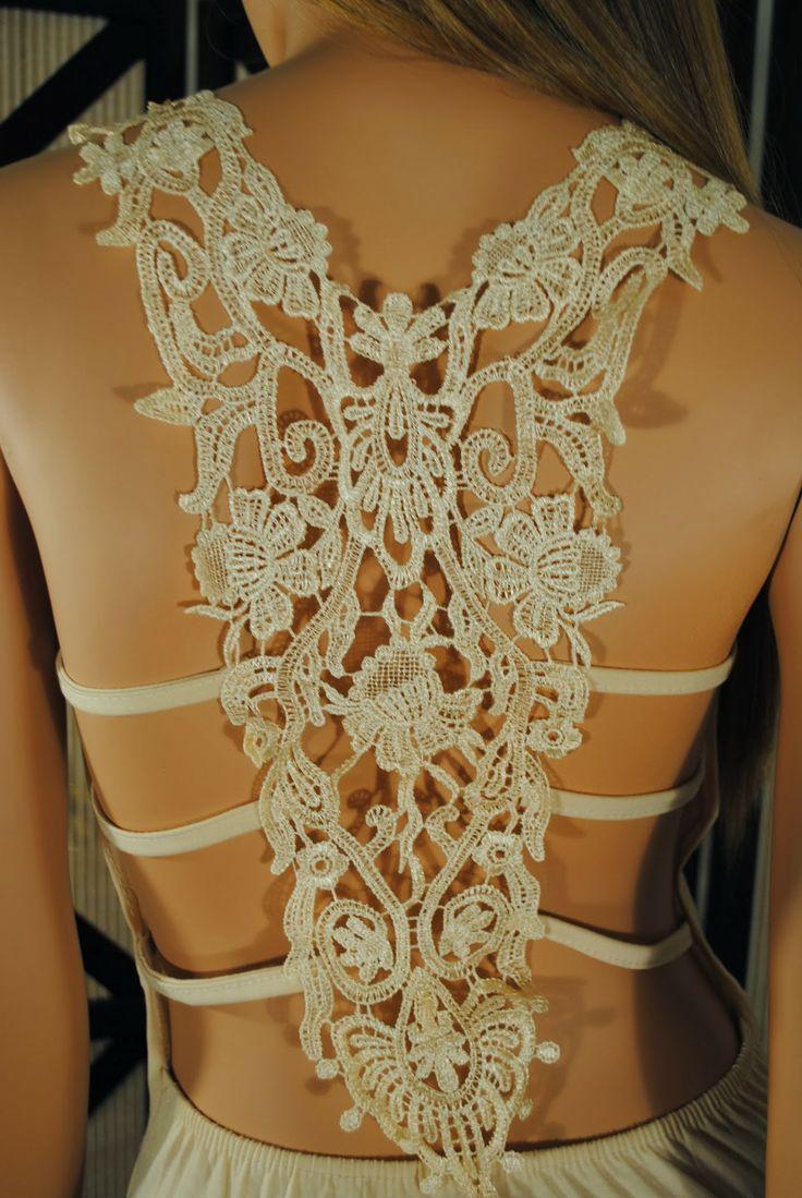 Very Sexy Backless Lace Mini Dress