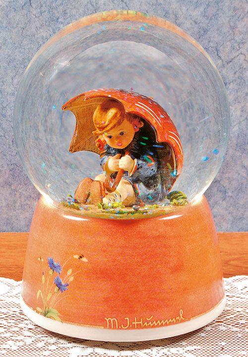 Umbrella Girl Hummel Water Globe