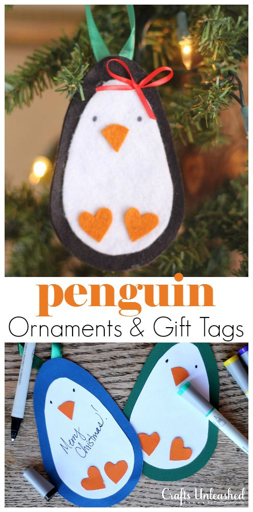 "Waddle, waddle... check out this ""cool"" idea! If you're a fan of penguins, you don't want to miss this tutorial for adorable penguin ornaments and gift tags that can be created with products from Dollar Tree."