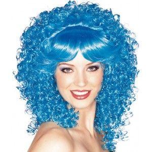 Perruque bleue bouclée deluxe femme. http://www.baiskadreams.com/1214-perruque-bleue-bouclee-de-luxe-femme.html