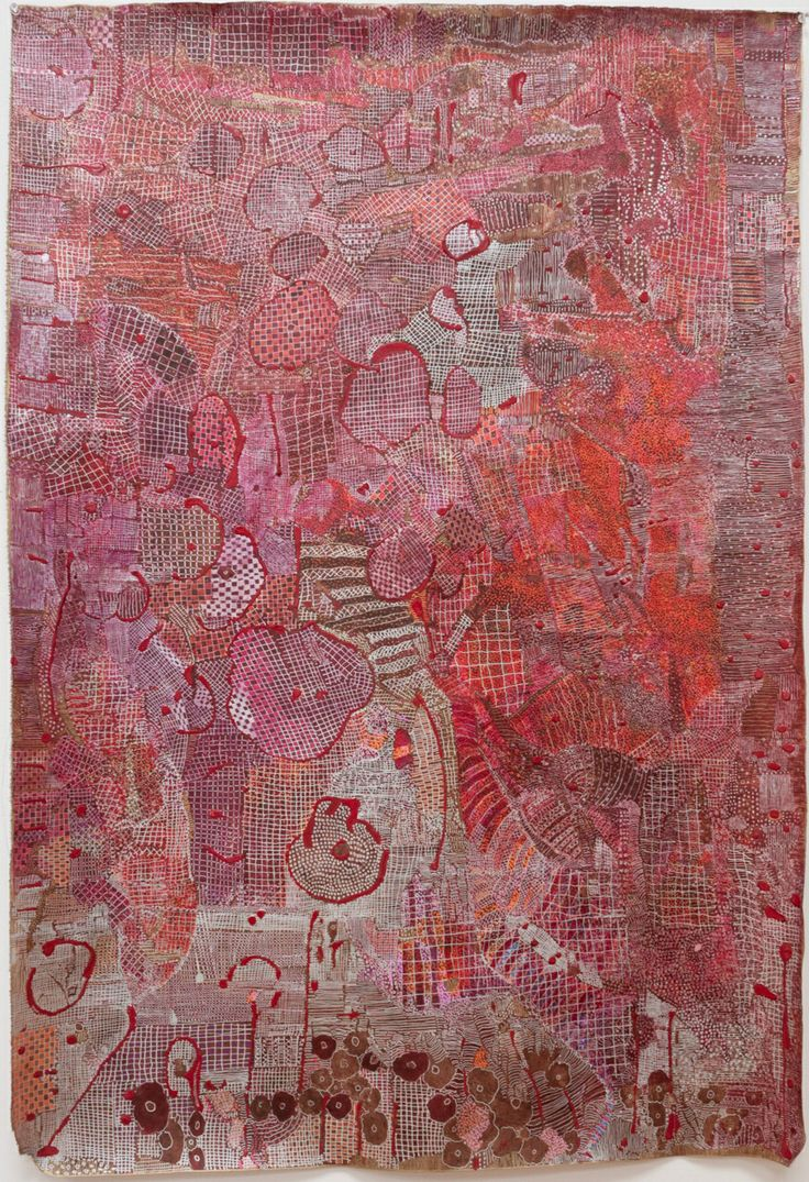 "Huguette Caland B1931 Beirut -- the Paris of the Middle East at this time.   34""x49.5"" mixed media on linen, 2010"