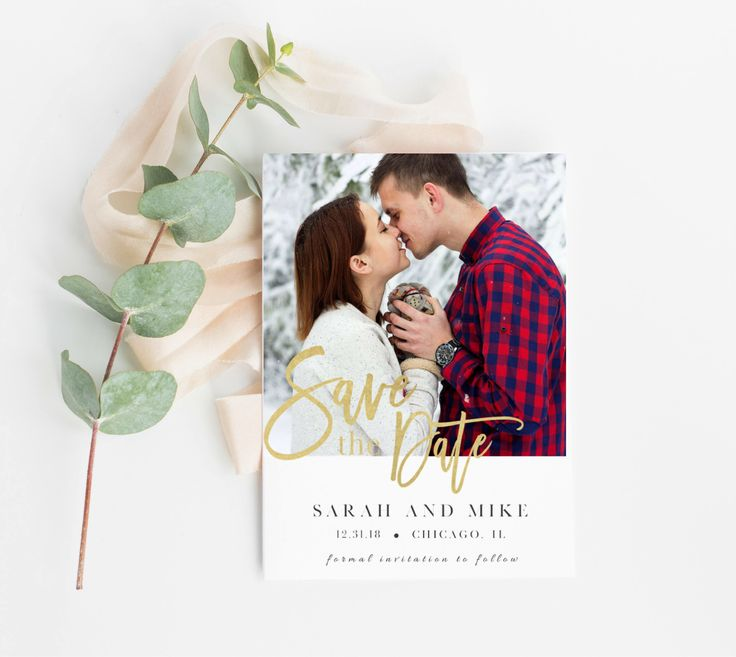 Save the Date, Save the Date Photo Card, Printable Save the Date, Save the Date Template, Photo Wedding Announcement, Print Photo Card by HeavenandFifthStudio on Etsy https://www.etsy.com/listing/575896571/save-the-date-save-the-date-photo-card