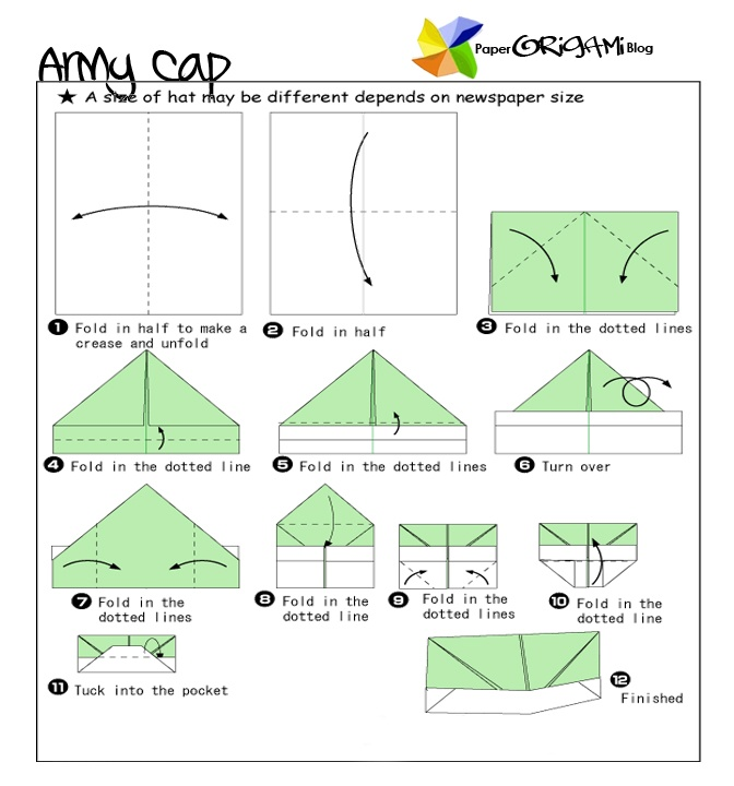 news paper army cap origami a cap badge also known as