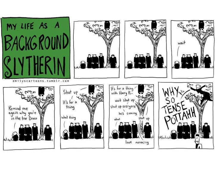 My Life as a Background Slytherin by emilyscartoons.