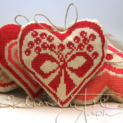 Heart shaped motif VIII for christmas tree decoration!