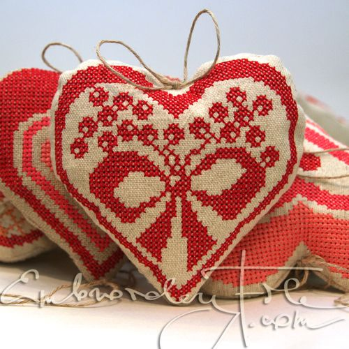 Heart shaped motif VIII for christmas tree decoration!