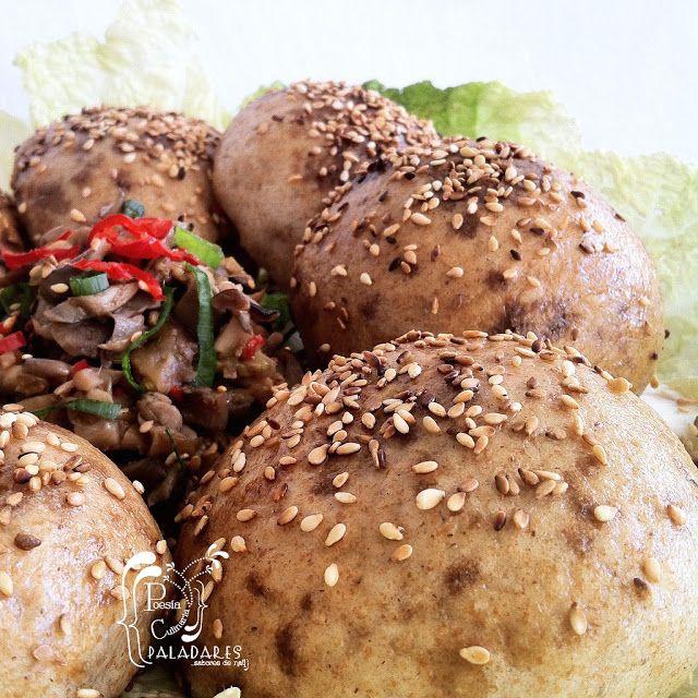 Paladares {Sabores de nati }: Dim Sum de hongos / Panecillos vegetarianos de Jamie Oliver