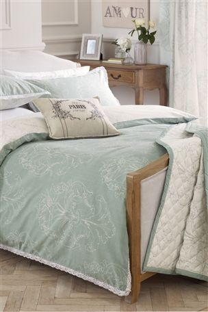 Theanas birthday?    Buy Damask Teal Print Bed Set from the Next UK online shop