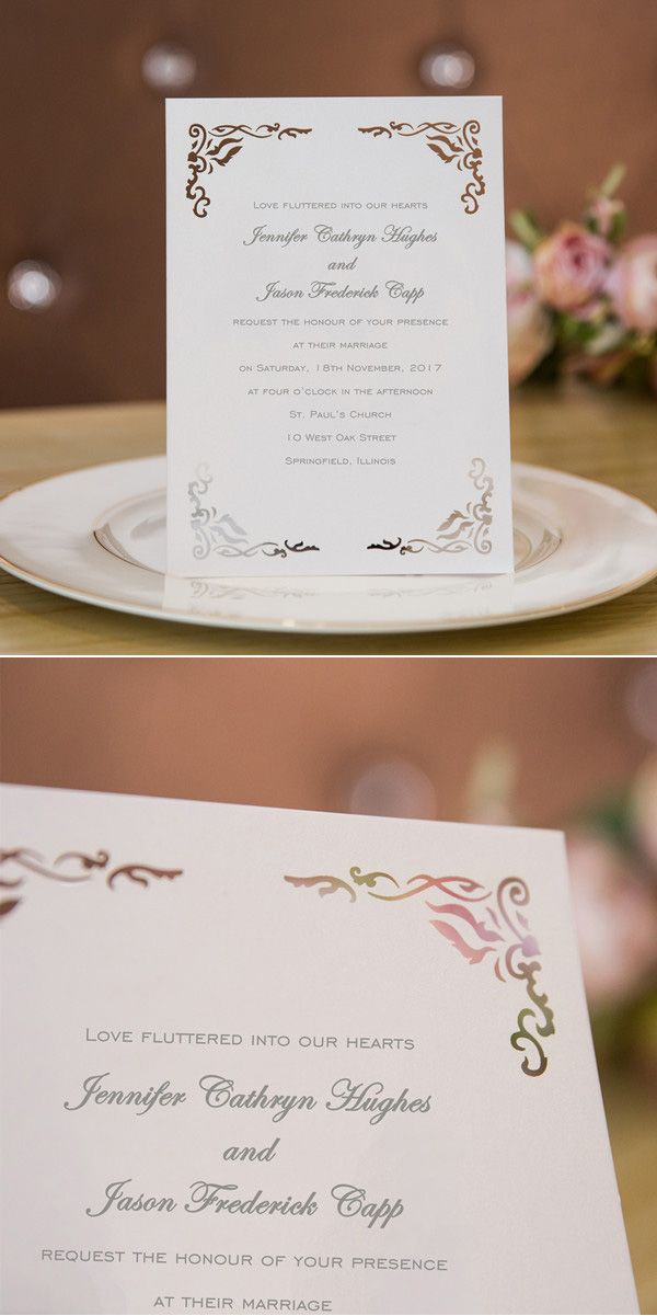vintage laser cut wedding invitations with free
