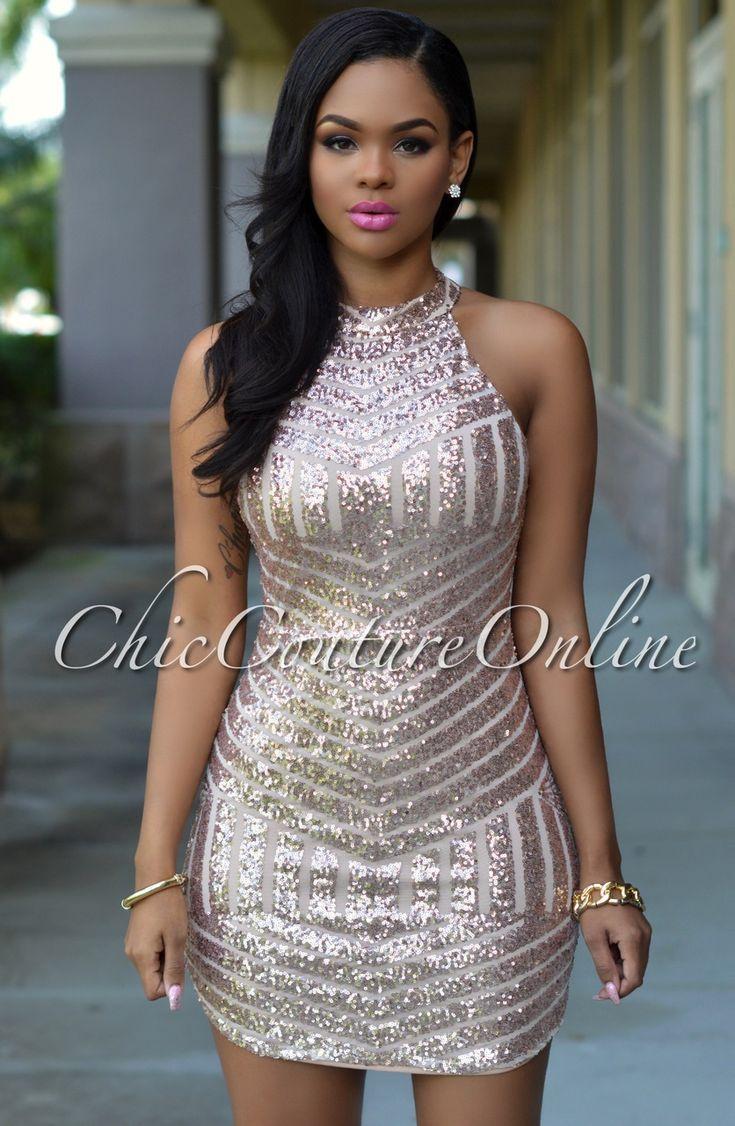 168 best Sequin Dresses images on Pinterest   Sequin dress ...