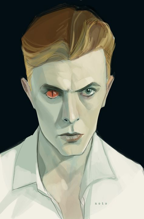 Phil Noto - David Bowie as Thomas Jerome Newton in The Man Who Fell To Eartha 1976 British SciFi film.