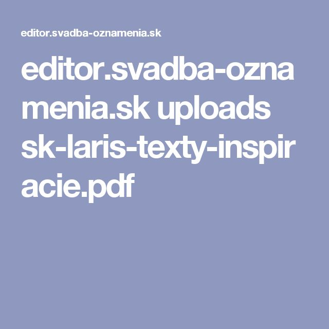 editor.svadba-oznamenia.sk uploads sk-laris-texty-inspiracie.pdf