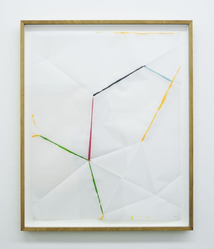 Beat Zoderer - FOLD & DIP No. 4 - 2014 - Acrylic on vellum, 61.5 x 48.5 cm