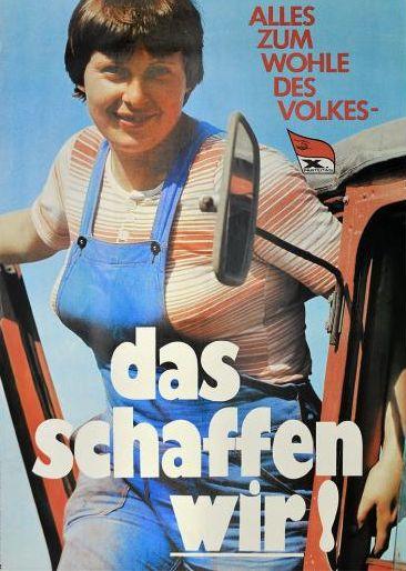 Wir schaffen das: Angela Merkel auf altem SED Plakat?