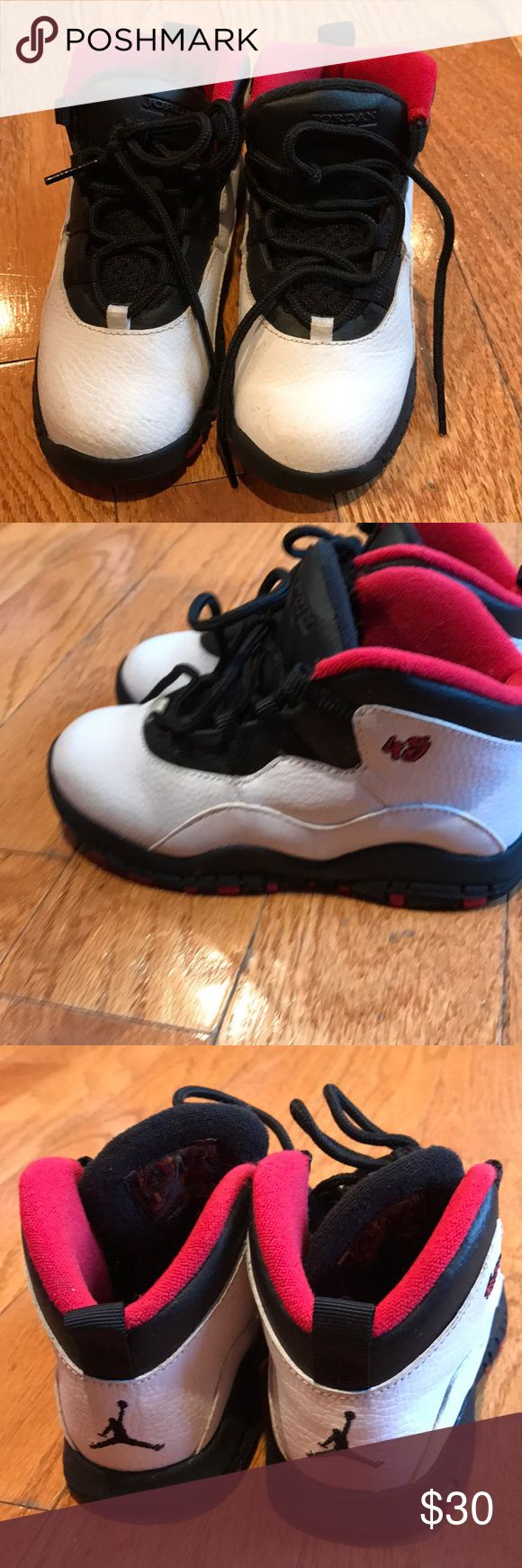Toddler Jordans Toddler Jordan's 10 Retro. No scuffs or marks on the shoes. Box in excellent condition as well. Air Jordan Shoes Sneakers
