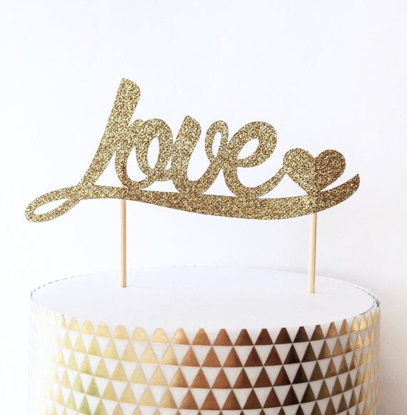 Cake Decor Glitter : Best 25+ Gold cake topper ideas on Pinterest