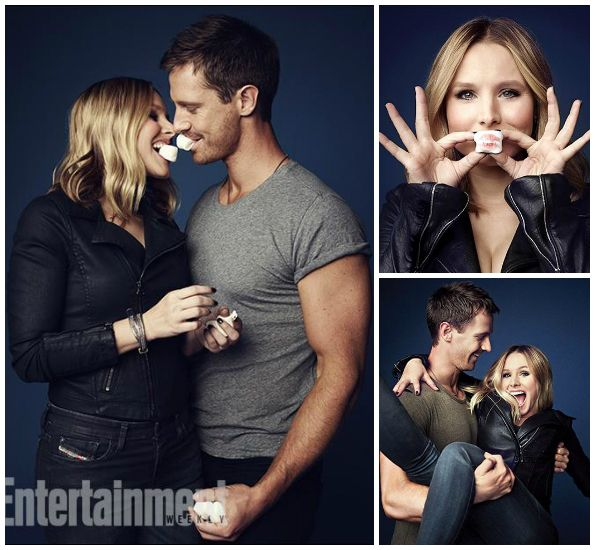 LOOVVEEE these pics from Entertainment Weekly. Veronica Mars - Logan Echols, Kristen Bell, Jason Dohring
