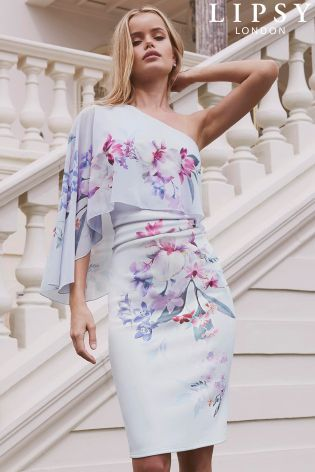 3c3238aca5 Buy Lipsy Lucia Print One Shoulder Bodycon Dress from Next Israel ...