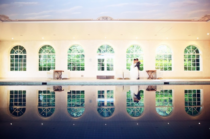Linda and Trent: The Pool House at Milton Park; the perfect spot to relax and reflect.