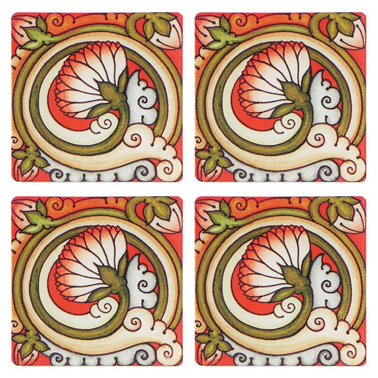 Coasters with Mural Deco Painting (Acrylic)