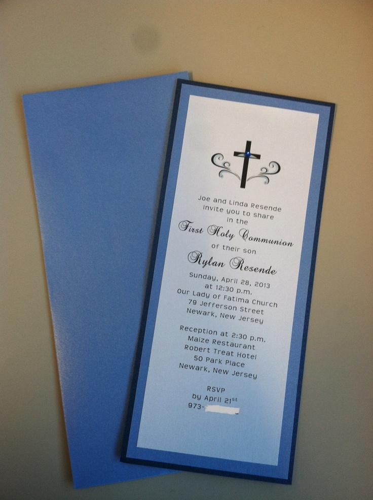 1st Communion Invitation For Boy Communion