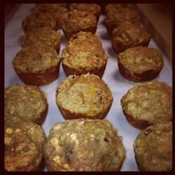 Toddler 'Super' Muffins- A great way to ensure your kids are eating their fruits and veggies, all packed into one 'Super' muffin! Includes Banana, Applesauce, Greek Yogurt, Squash, Zucchini, Carrots, Raisins, Whole Wheat Flour, Oatmeal and Pumpkin Pie spices! SO good.