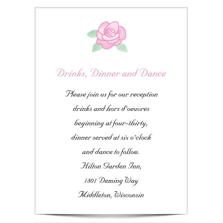 7 best Invitations images on Pinterest | Wedding reception ideas ...