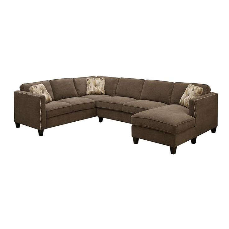 Focus Chocolate Sectional | Sectionals | Discount Direct Furniture And  Mattress Gallery 1089.99