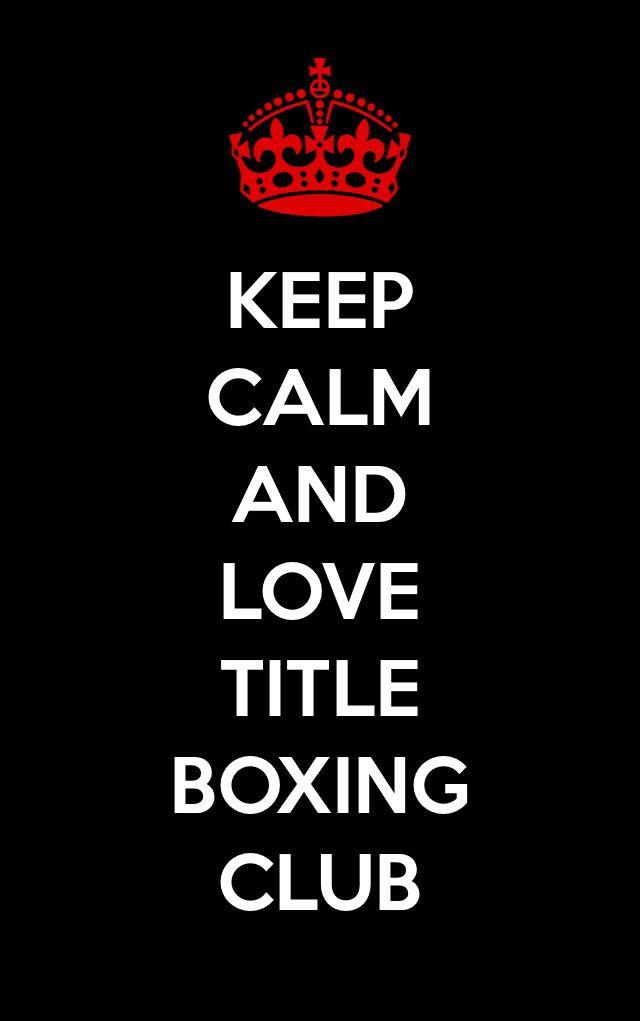 Keep calm title boxing club