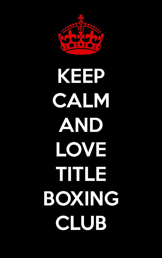 Keep calm title boxing club