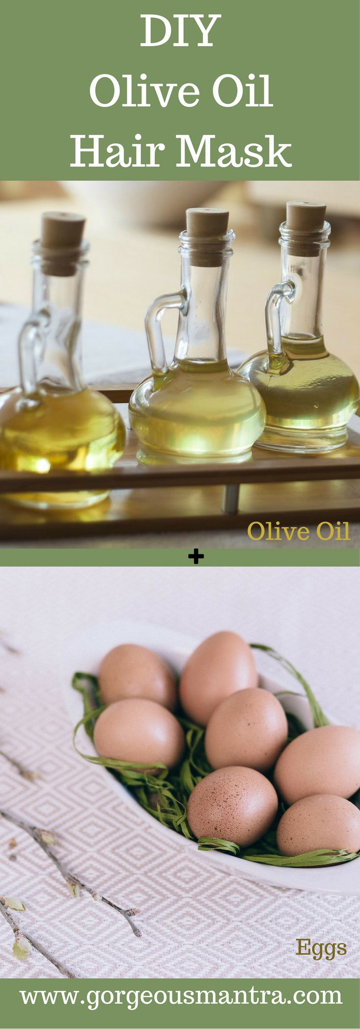 Use this DIY olive oil hair mask for conditioning hair and improving hair growth.